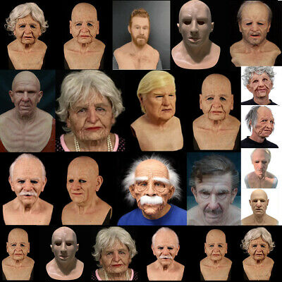 $ CDN29.98 • Buy New 2020 Old Men Mask Latex Realistic Scary Halloween Costume Party Props