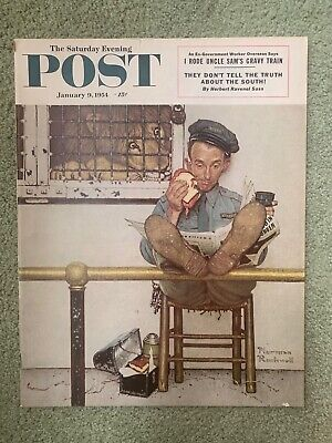 $ CDN127.37 • Buy Saturday Evening Post Norman Rockwell Cover January 9, 1954 Near Mint Condition