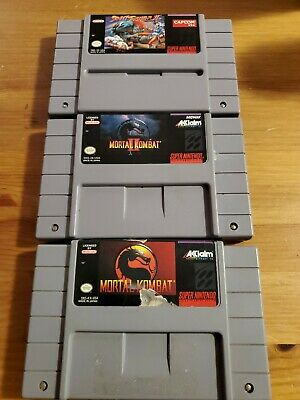 $ CDN64.95 • Buy Lot Mortal Kombat + II+ Street Fighter 2 SNES TESTED AUTHENTIC Super Nintendo