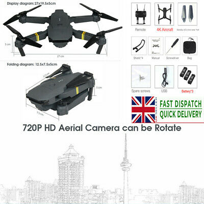 E58 2.4G RC Drone FPV Wifi 720/1080P HD Camera Quadcopter+3 Batteries • 33.30£