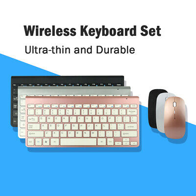 Wireless Keyboard And Mouse Set Ultra Slim Small For Computer MAC Laptop • 20.09£