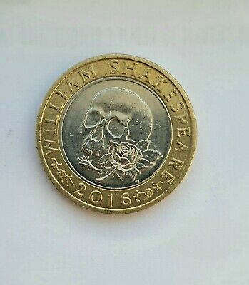 💥2 Pound Coin £2 Coin William Shakespeare Macbeth Rose And Skull Good Condit💥 • 1.99£