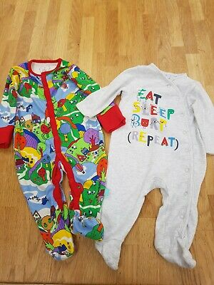 3-6 Months Baby Grows Blue Zoo Little Bird • 2.11£