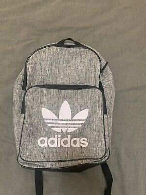 AU37 • Buy Grey And White Adidas Backpack ( Worn Once, Comfortable On Your Back, See Pics)
