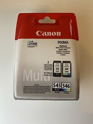 Brand New Canon PG-545 / CL-546 Ink Cartridge - Pack Of 2 FREE DELIVERY • 25.50£