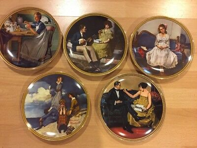 $ CDN40 • Buy Vintage Norman Rockwell Plates Rockwell's Discovered Women Collection Lot Of 5