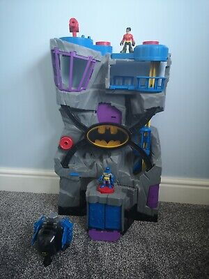 IMAGINEXT BATCAVE BATMAN FIGURE BIG PLAYSET TALL LARGE CAVE AND Vehicle • 1.20£