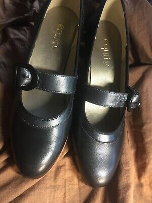 Equity Black/Pewter  Maxine  Mary Jane Shoes, UK 5 Standard Width • 15£