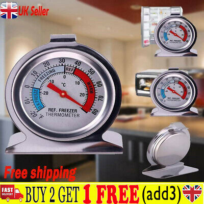 UK Stainless Steel Refrigerator Freezer Thermometer Dial Temperature Gauge HH UK • 4.59£