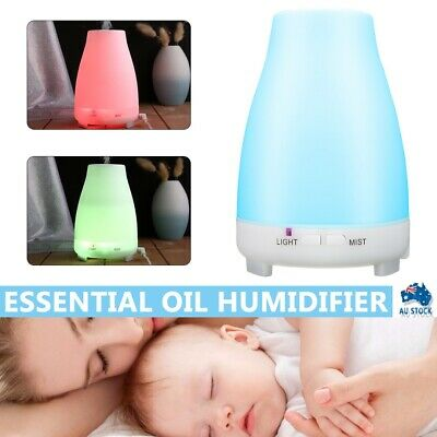 AU17.99 • Buy LED Aroma Aromatherapy Diffuser Essential Oil Ultrasonic Air Humidifier Purifier