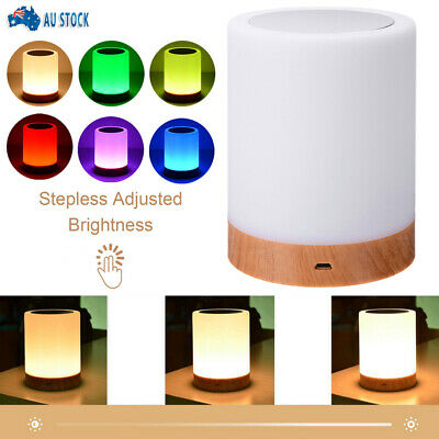 AU21.99 • Buy Touch Night Light LED Bedside Lamp Desk Table Mood USB Dimmable Reading Home AU