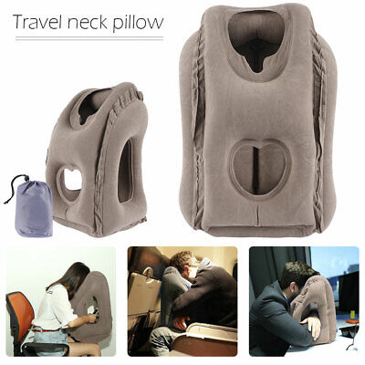 AU13.76 • Buy Inflatable Air Travel Pillow Airplane Head Cushion Neck Support Office Nap Rest!