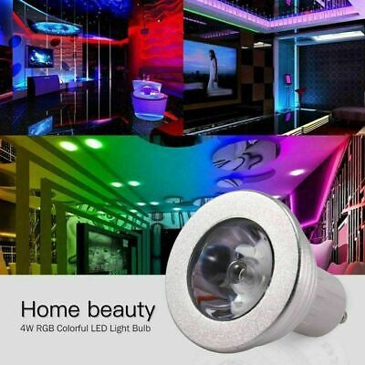 4x GU10 4W 16 Color Changing RGB Dimmable LED Light Bulbs Lamp RC Remote Spot • 9.11£