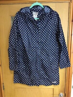 PETER STORM - Blue & White Spotted Cagoule/Showerproof Jacket - Size 12 • 0.99£