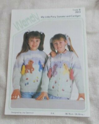 Knitting Pattern - Wendy 2823 - My Little Pony Sweater / Cardigan - VGC • 3.95£