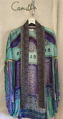 AU299 • Buy Camilla Silk Open Cape Sultans Gate Beautifully Embellished O-S