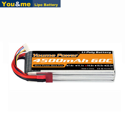 AU55.99 • Buy Youme 14.8v 4S 4500mAh 60C LiPO Battery Deans For RC TRUCK QUAD PLANE HELICOPTER