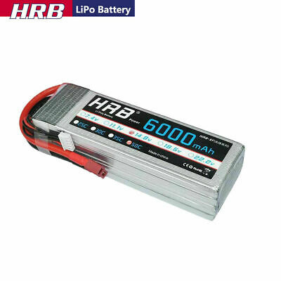 AU82.16 • Buy HRB 4S 6000mAh 14.8V 50C Deans RC LiPO Battery RC Airplane Car Truck