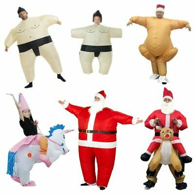 Inflatable Costume Suit Adult Kids Funny Santa Turkey Cosplay Christmas Outfits • 18.99£