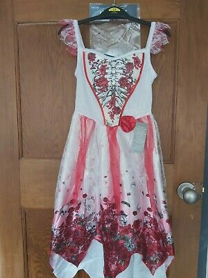 Zombie Bride Corpse Halloween Costume Age 7-8 Bnwt By George  • 8.99£