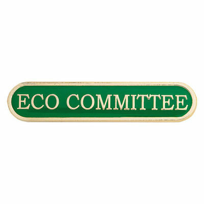 10 Eco Committee Bar Enamel Badges - Free Delivery • 29.34£