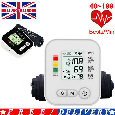 Digitals Voices Automatic Blood Pressure Monitor Upper Arm BP Machine 180 Memory • 15.59£
