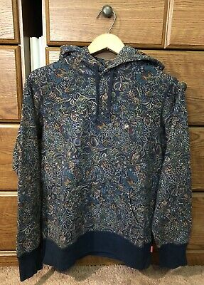 $ CDN600 • Buy Supreme 2011 Paisley Hoodie Pullover Navy Size Small Box Logo