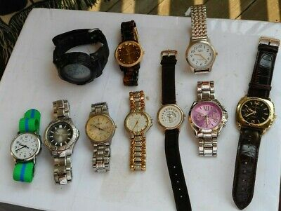 $ CDN11.39 • Buy LOT Vintage Watches Wristwatches Skmei Fossil Men's Timex Cardini Milagro Lucite