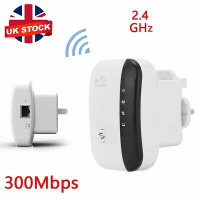 300Mbps WiFi Signal Repeater Extender UK Plug Range Booster Internet Amplifier • 11.59£