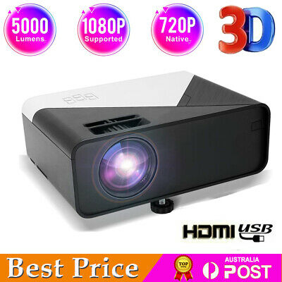 AU139.99 • Buy Mini Portable Video Projector 1080P HD Home Theater Cinema Projector PC HDMI USB