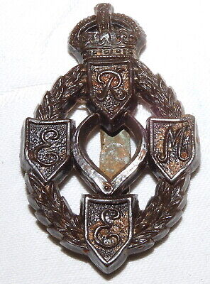 Ww2 Royal Electrical Mechanical Engineers Reme Military Cap Badge - Economy Mmmc • 0.99£