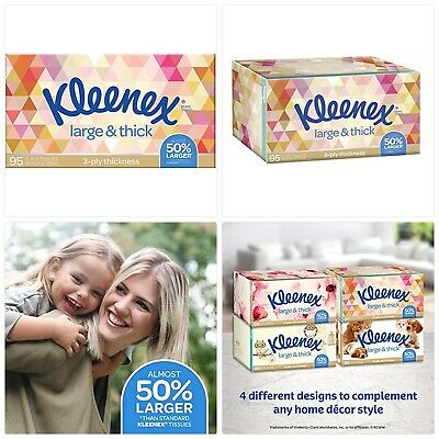 AU3.99 • Buy Kleenex Everyday Plus Large And Thick Facial Tissues, Pack Of 95