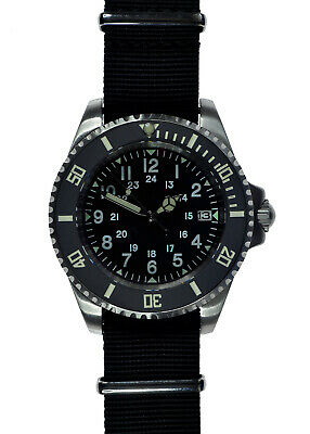 $ CDN333.62 • Buy MWC 24 Jewel U.S Pattern Automatic Military Divers Watch With Sapphire Crystal