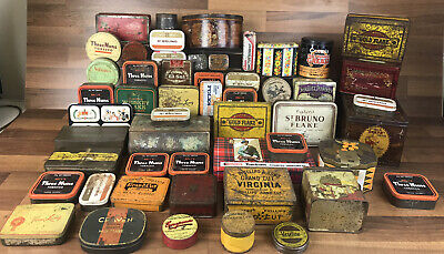 Huge Large Bundle Of Vintage Advertising Tins Biscuits/tobacco/sweets Etc • 99.99£