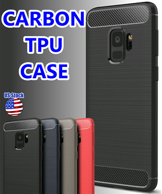$ CDN6.80 • Buy For Samsung Galaxy S8 S9 S10+ Shockproof Rubber Carbon Fiber Soft TPU Case Cover