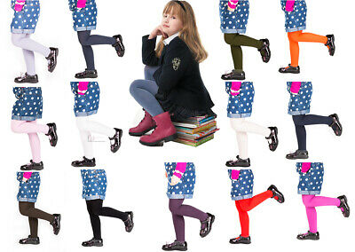 £3.39 • Buy Girls Tights Plain Opaque By Sentelegri 40 Or 60 Denier, Age 2-12Years-16Colours