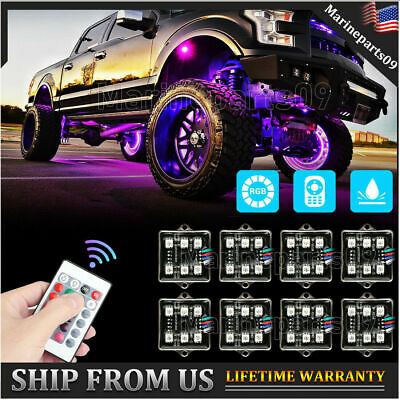 $29.96 • Buy LED Underglow RGB Rock Lights Multicolor Neon Strip Light Kit For Off-Road Truck