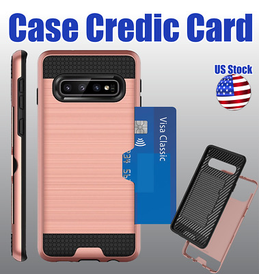 $ CDN7.99 • Buy For Samsung Galaxy Note 8 9 10 + Brushed Hybrid Card Case Phone Cover Accessory