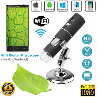 USB 1000X WIFI Digital Microscope Magnifier Endoscope Camera For IPhone Android • 29.49£