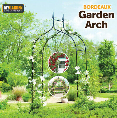 £21.95 • Buy Metal Decorative Garden Arch Heavy Duty Strong Rose Climbing Plants Archway Path