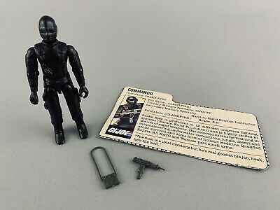 $ CDN1.33 • Buy 1983 GI JOE Snake Eyes With File Card Complete With Light Grey Accessories ARAH