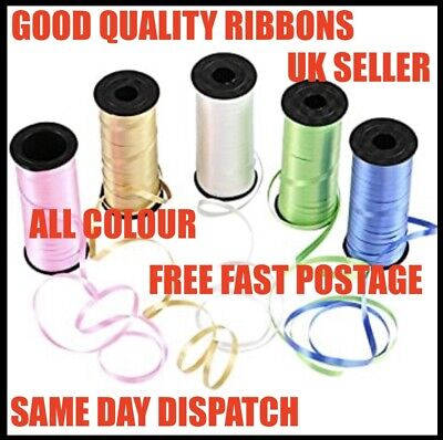 Brand New 50 M. Sale Helium Balloon String Tie Curling RibboN ROLL Knot Free P&P • 0.99£