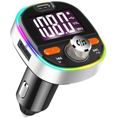 Bluetooth Car Kit FM Transmitter Car Charger MP3 Player USB For IPhone Samsung • 13.98£