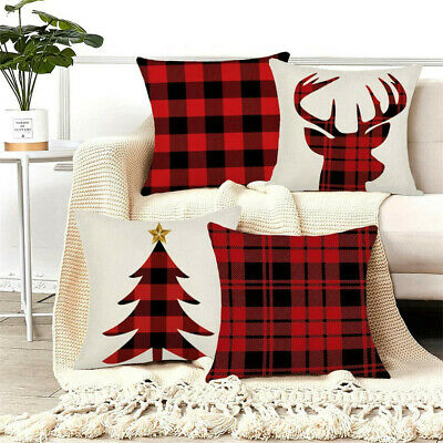 Christmas Pillow Case Beautiful Cushion Cover For Bed, Chair, Couch, Auto-seat • 1.29£
