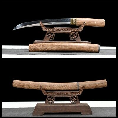 $ CDN250.67 • Buy Traditional Hand Forged Japanese Sword Tanto Clay Tempered Full Tang Razor Sharp