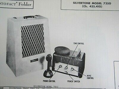 $ CDN9.07 • Buy Silvertone 7350 Amp Amplifier Photofact