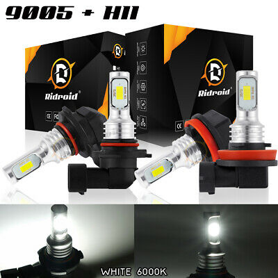 AU27.13 • Buy 9005 + H11 200W 16000LM Combo CREE LED Headlight Kit High Low Beam Bulbs 6000K