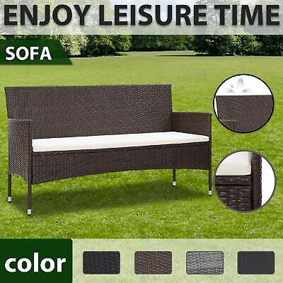 AU162.99 • Buy VidaXL 3-Seater Garden Sofa With Cushions Poly Rattan Seating Multi Colours