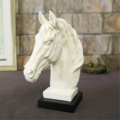 Horse Head Bust Statue Ornament Sculpture Figurine Home Office Display  ! ** • 46.99£