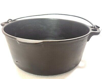 $ CDN73.27 • Buy Vintage Unbranded Wagner Cast Iron 5 Quart Qt. Dutch Oven C Fully Restored